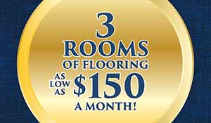3 Rooms Of Flooring starting as low as $150 a month! Only at Nu Floors To Go in Tuscaloosa, Alabama!