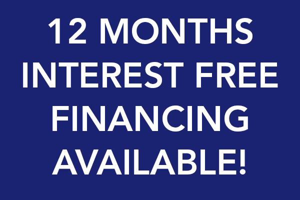 12 months interest free financing available!
