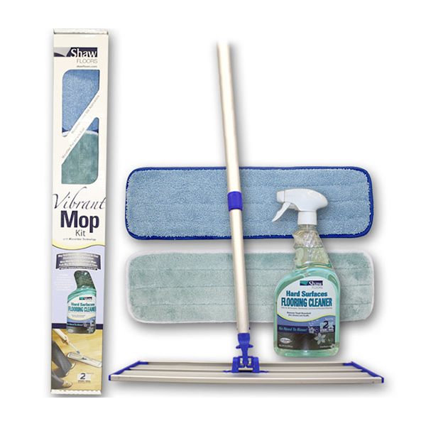 Shaw's Vibrant Mop Kit is safe for all Hardwood, Ceramic, Laminate and Resilient Floors. Removes tough household dirt, grease, and scuffs.