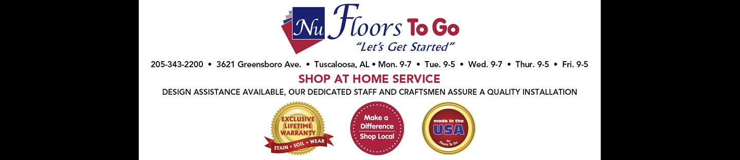 Nu-Floors To Go | Let's Get Started | Shop At Home Service | Design Assistance available, our dedicated staff and craftsmen assure a quality installation.