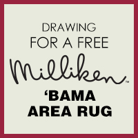 Drawing for a free Milliken 'Bama area rug