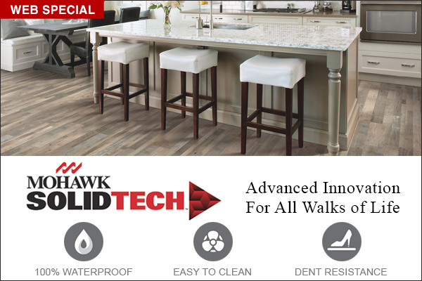 Mohawk SolidTech - Advanced Innovation For All Walks Of Life- 100% waterproof, easy to clean, dent resistant