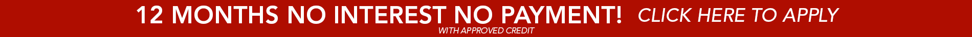 12 months NO interest NO payment with approved credit only at Nu Floors To Go