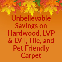 At Nu Floors to Go you'll find unbelievable savings on Hardwood, LVP & LVT, Tile, and Pet Friendly Carpet during out October National Extravaganza Sale!