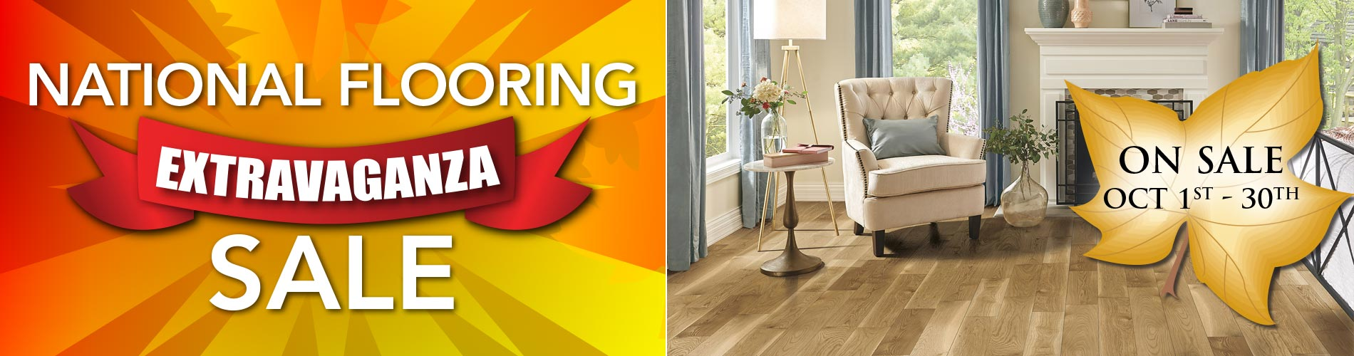 National Flooring Extravaganza Sale going on now at Nu Floors To Go in Tuscaloosa, Alabama! Hurry, sale ends October 30th!