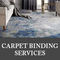 Carpet binding services at Nu Floors To Go